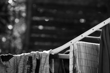 Close-up Of Drying Laundry