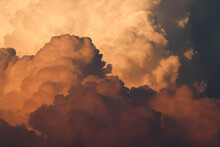 Low Angle View Of Cloudscape During Sunset