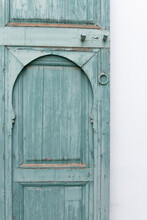 Closed Door Of Old House