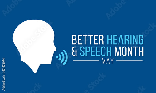 Fotografia Better hearing and speech month (BHSM) observed each year in May, it provides an opportunity to raise awareness about communication disorders