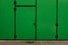Industrial Green Door
