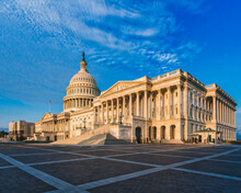View Of Historic Capitol Building Against Blue Sky