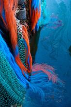 Full Frame Shot Of Fishing Net In Water