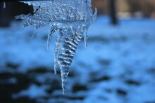 Close-up Of Hanging Icicle