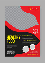 Healthy Food Flyer Design Template