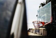 Close-up Of Basketball Hoop Seen Through Window