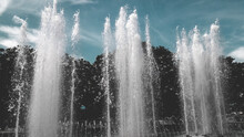 Beautiful Fountain At The Park