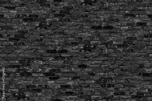 Leinwand Poster Seamless texture Brick Dark Grey.