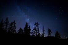 Night Sky With Person