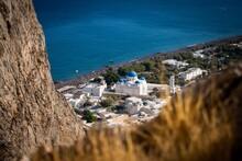 The Village Of Perissa In Santorini