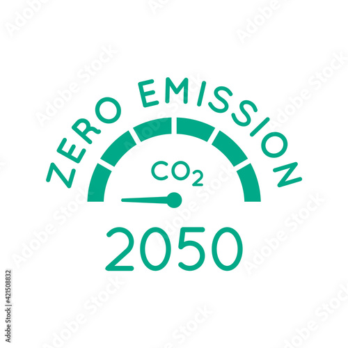Leinwand Poster Zero emission by 2050