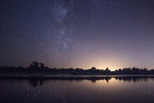 Milky Way On The Lake Beach