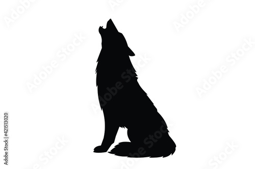 Fotografia Wolf Silhouette icon. For your design .Vector EPS10.