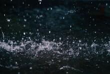 Water Drops On Rocks