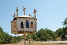 A Wayside Shrine In Greece Called Kandilakia
