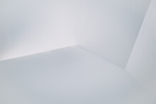 High Angle View Of White Wall