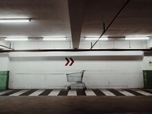 Cart Under The Sign To Right