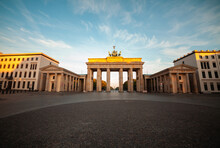 Low Angle View Of Brandenburg Gate Against Sky, Berlin
