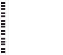 Piano Keys Isolated On White