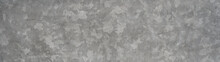 Galvanized Sheet Texture - Zinc Wall , Plate Surface Background Pattern Banner Panorama With Scratches