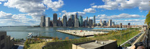 Cityscape Against Cloudy Sky, Of You A Southern Manhattan From Brooklyn.