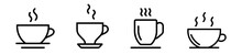 Set Of Cofee Cup In Line Style, Coffee Logo Icons