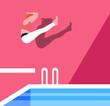 Big splash summer illustration