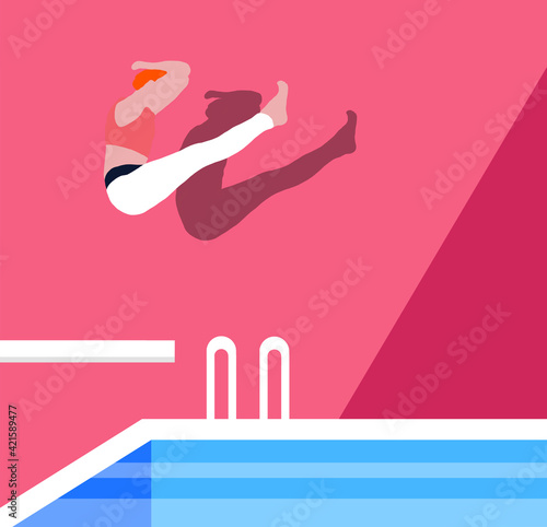 Obraz Big splash summer illustration - fototapety do salonu