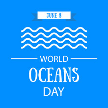 Paper Art Concept Of World Oceans Day.