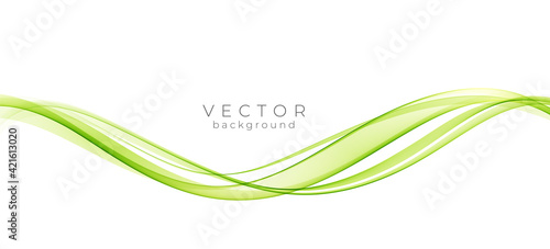 Canvas Print Abstract colorful vector background, color wave for design brochure, website, flyer