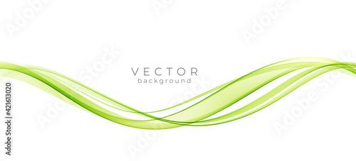 Foto Abstract colorful vector background, color wave for design brochure, website, flyer