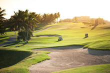 Golf Course With Players In Varadero