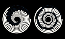 Abstract Rotated Lines In Circle Form As Background. Design Element For Prints, Logo, Sign, Symbol And Textile Pattern.