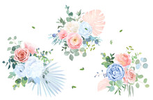 Trendy Pastel Color Collection. Isolated And Editable
