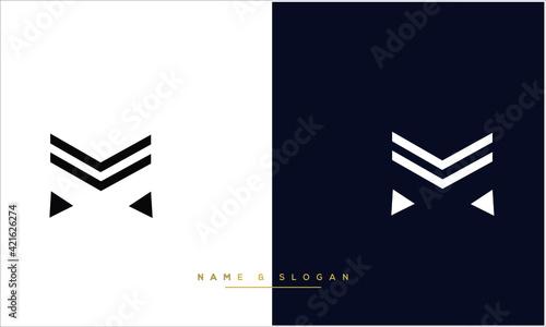Fototapeta M ,MM  Abstract letters logo Monogram obraz