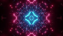 Bright Trippy Motion Through A Vibrant Colored Tunnel In