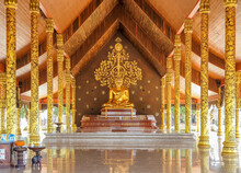 Sirindhorn Wararam Phu Prao Temple  Located On Phu Prao, Near The Chong Mek Border Checkpoint.  Inside The Temple, There Is An Ubosot That Is