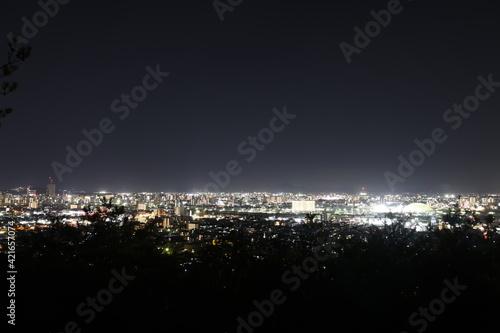 とても美しい日本の岡山県岡山市の夜景 Fototapete