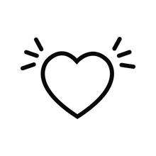 Shape Icon Love Ilustration Vector