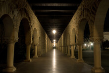 Empty Cloister At Stanford University In Palo Alto, California