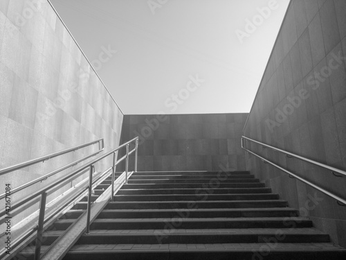 Low Angle View Of Staircase Against Building Fotobehang