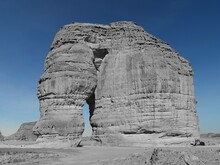 Low Angle View Of Rock Formation Against Sky Rocky Elephant