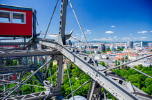 View Of The City Of Vienna From A Ferris Wheel At The Prater.