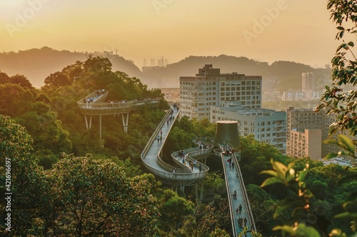 Fototapeta Fudao Footbridge