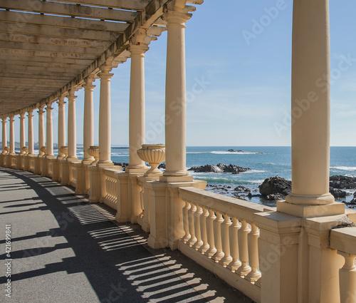 Canvas Bridge Over Sea Against Sky