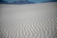 Sand Patterns In The Largest Gypsum White Sand Desert In The World, The White Sands National Park In New Mexico .