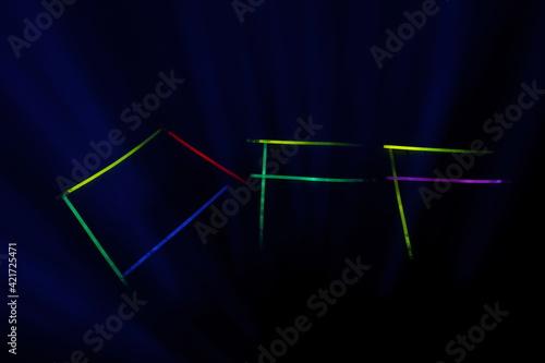 Fototapeta neon off obraz