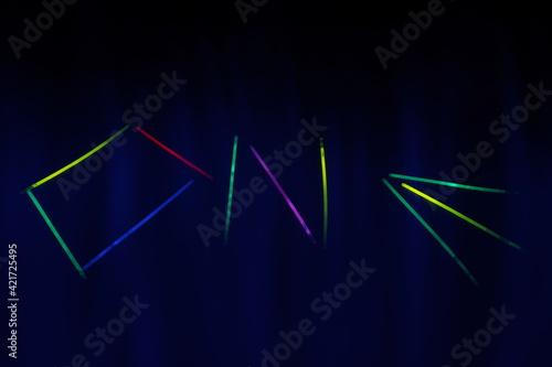 Fototapeta neon on obraz