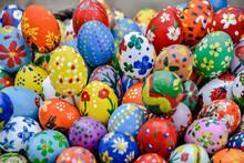 Full Frame Shot Of Multi Colored Easter Eggs.