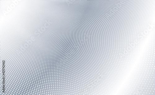 Fototapeta Black and white radial dotted lines, half tone effect background. obraz